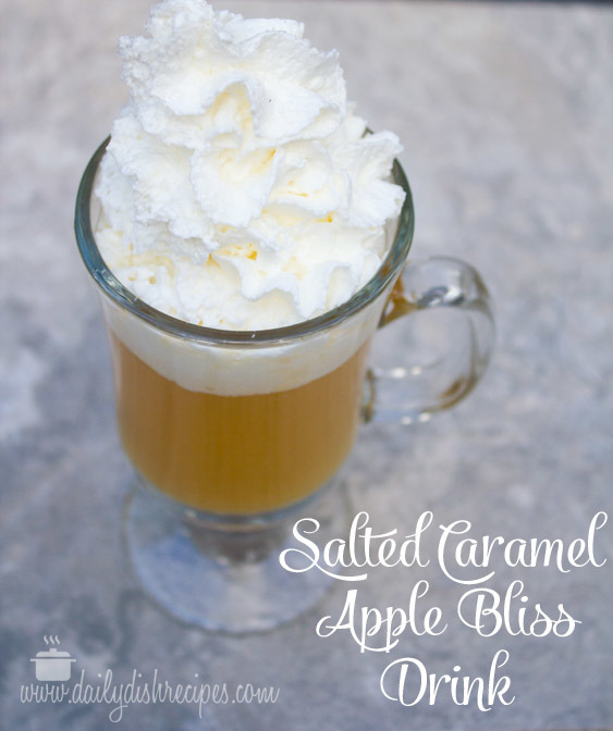 Hot Salted Caramel Apple Bliss Drink