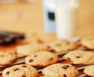 Glassandwich med Soft Chocolate Chip Cookies (naturligt glutenfria)