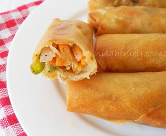Chinese Spring Rolls with Chicken