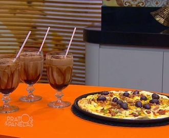 Pizza à Moda e Milk-shake Crocante