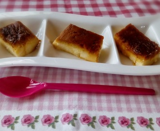 Flan de queso al microondas light