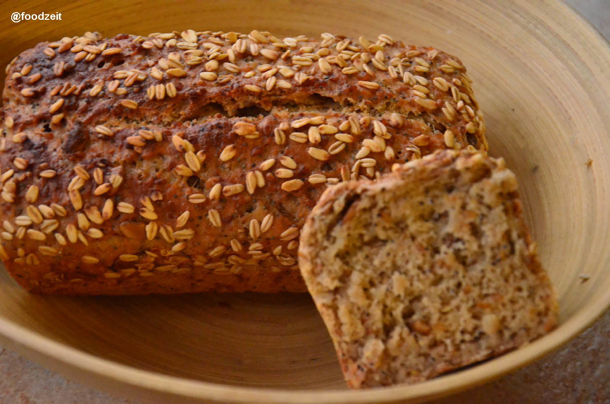 100's Blog post !!! Let's celebrate with an artisan barley seeds rye sourdough bread