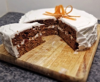 Carrot Cake with Lemon Cream Icing