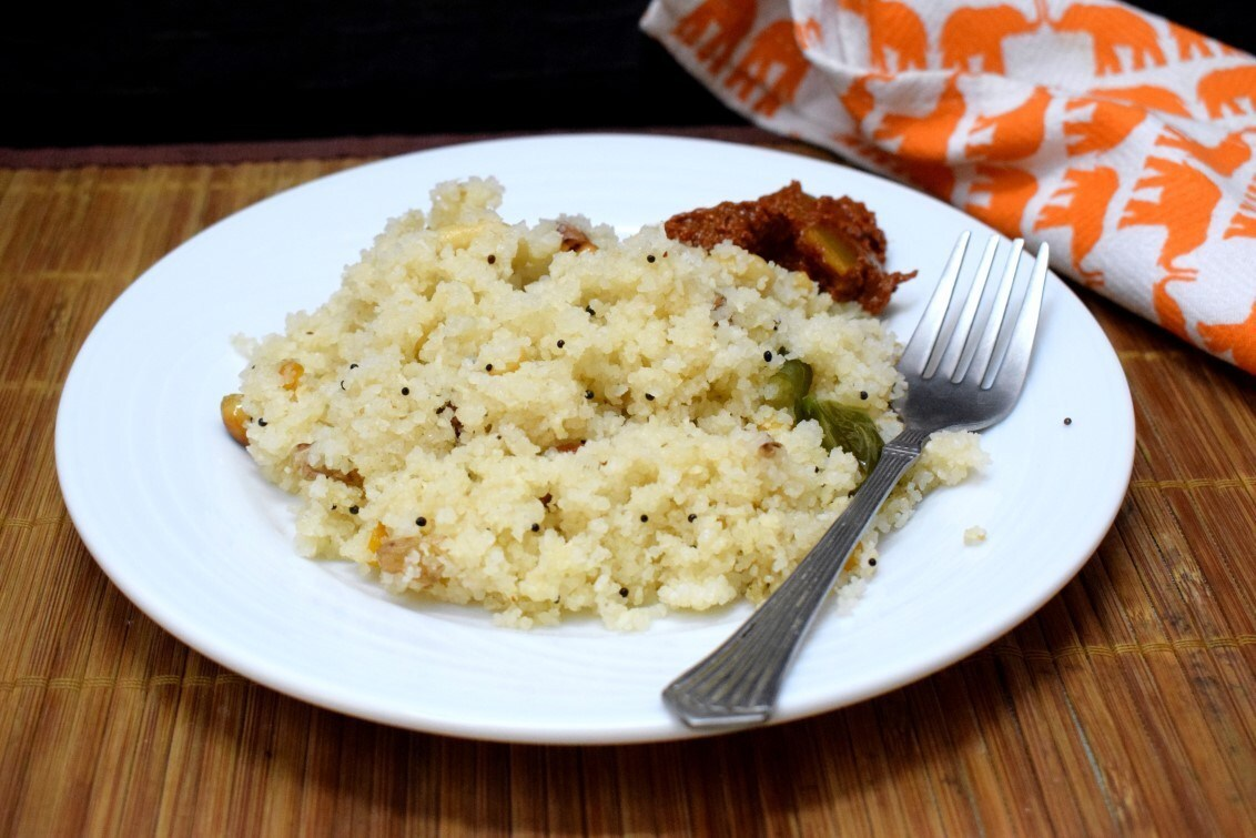 Arisi Upma | How to make Broken Rice Upma