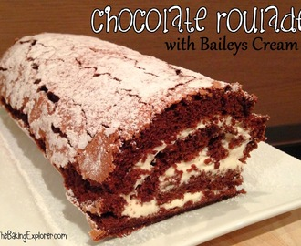Chocolate Roulade with Baileys Cream