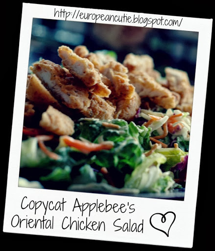 Copycat Applebee's Oriental Chicken Salad ♥