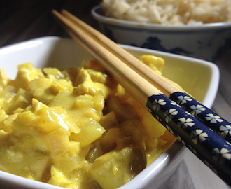 Ananas-Curry mit Huhn