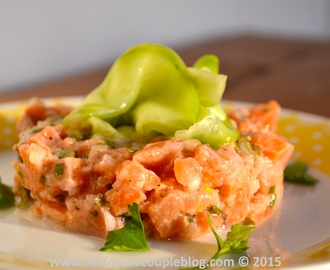 Salmon Tartare with Sweet & Sour Cucumber