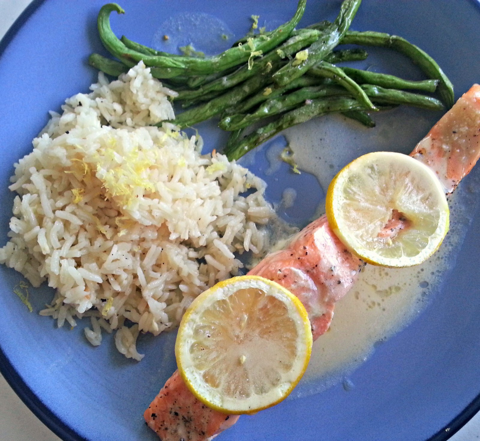 Slow Baked Salmon with Lemon Butter Sauce