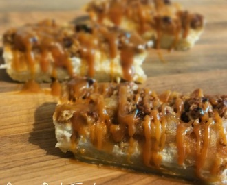 Quark Recipe Challenge:- Salted Caramel Apple Cheesecake Crumble Bars!