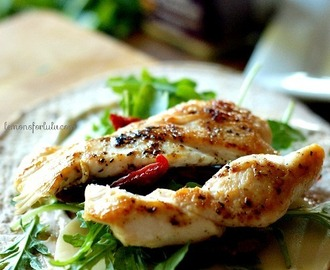 Garlic Parmesan Chicken Wrap