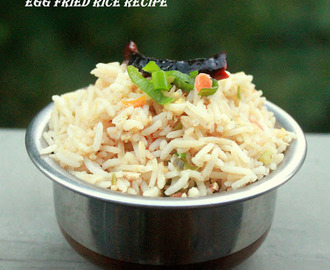 Egg Fried Rice | How to make fried Rice - Step by Step pictures