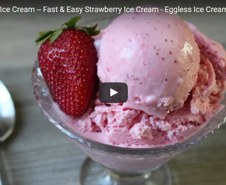 Strawberry ice cream Recipe Video