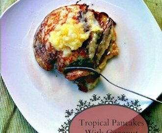 Tropical Pancakes with Coconut Rum Syrup