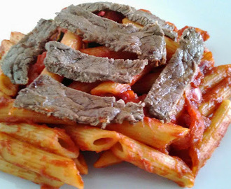 Easy Ramiro Pepper Pasta with Minute Steak - Family Favourites