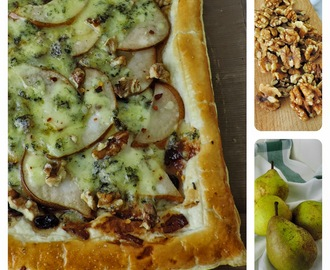 Pear Puff Tart with Stilton and Walnuts