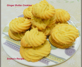 Ginger Butter Cookies#FantasticalFoodFight