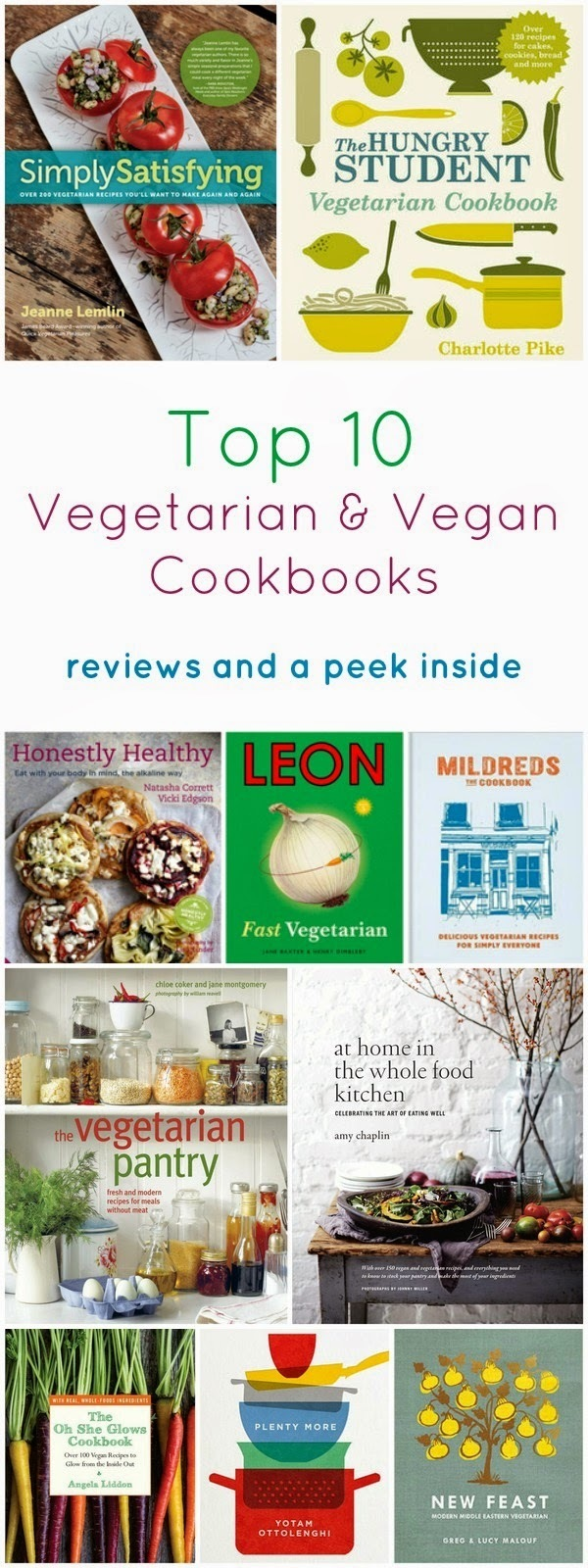 Top 10 Vegetarian and Vegan Cookbooks for National Vegetarian Week
