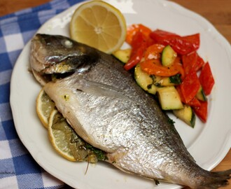 Dorade mit Buttergemüse / Gilthead and buttered vegetables