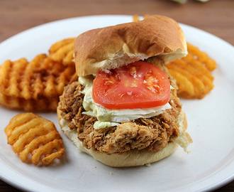 Homemade Fried Chicken Sandwiches with Dill Pickle Sauce