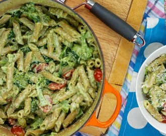 Video: Creamy pesto pasta with broccoli