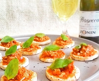 Canapés super light de atum