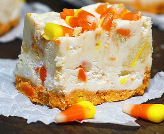 Candy Corn Oreo Cookies and Cream Fudge Bars