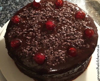 Gluten Free Vegan Chocolate Cherry Cake