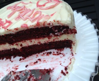 Best Cake Recipe- Red Velvet Cake and Cream Cheese Frosting