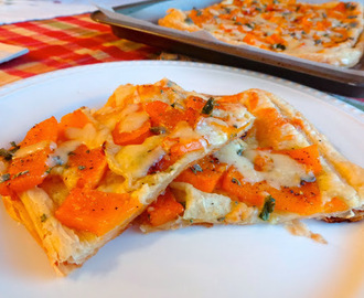 "...Butternut Squash, Sage and Cheddar ""Pizza"""