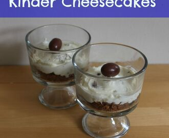 Mini Kinder Cheesecakes