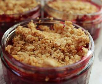 Mini summer fruits gluten free crumble recipe