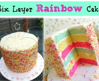 How to make a 6 layer rainbow cake!
