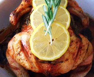 Simple Lemon, Horesradish & Rosemary Roast Chicken