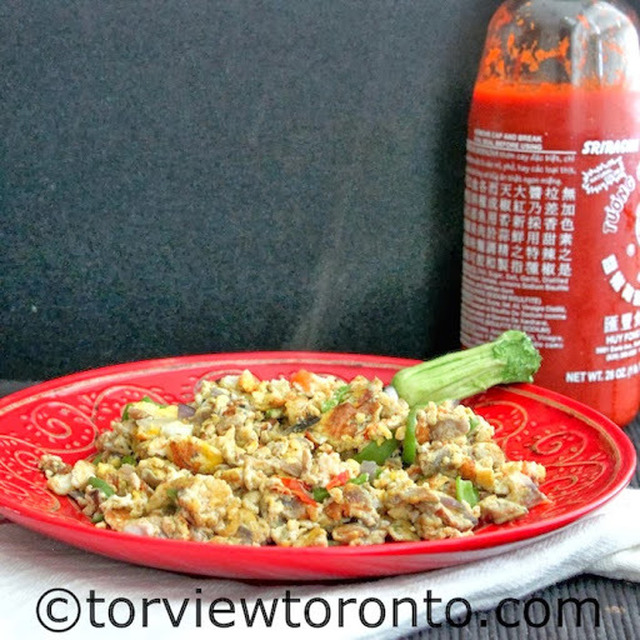 Celebrate World Egg Month With This Vegetable Scrambled Eggs and Giveaway