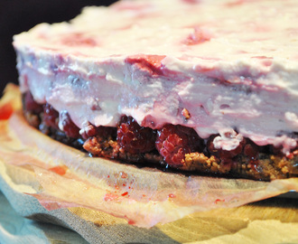 Cream Cheese & Raspberry No Bake Cake