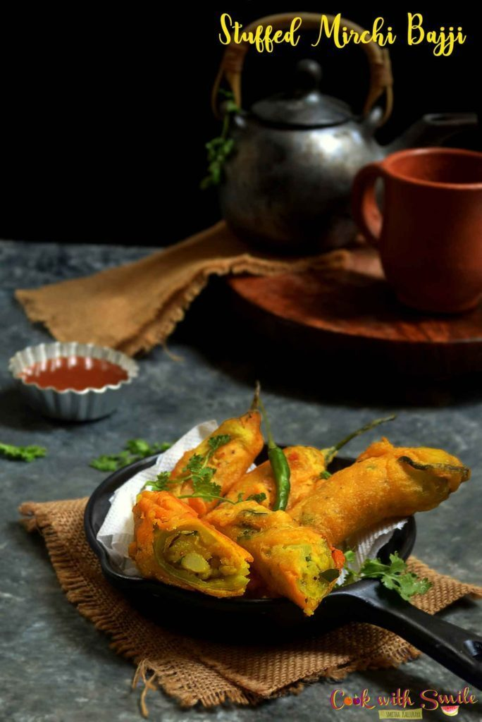 STUFFED MIRCHI BAJJI RECIPE | STUFFED MENASINAKAI BAJJI | STUFFED CHILLI BAJJI RECIPE