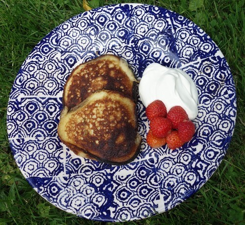 American panncakes (LCHF) till brunch