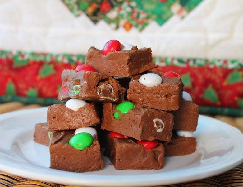Holiday Mint M&M Chocolate Fudge #ChristmasWeek #Giveaway