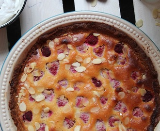 Raspberry Almond Tart With Vanilla Coconut Cream (Paleo, Gluten-Free)