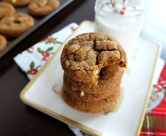 white chocolate molasses crinkles