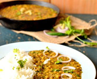Punjabi Maah Chhole ki Daal | Vegan mixed lentils curry