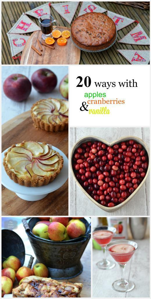 20 ways with apples, vanilla and cranberries this Christmas
