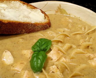 Rich, Creamy Chicken and Noodle Soup