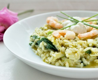 Pesto Prawn Spring Risotto