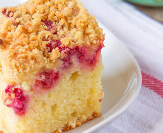 Raspberry and Lemon Crumb Cake