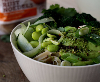 Fairtrade green veggie noodle bowl