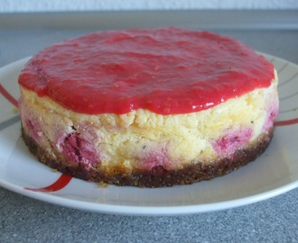 (Mini) New York Cheesecake mit Himbeerspiegel