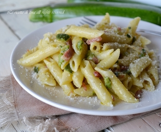 Pasta zucchine e speck magic cooker