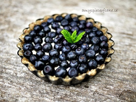 Raw Blåbärspaj - Raw Blueberry Pie